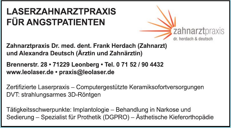 Zahnarztpraxis Dr. med. dent. Frank Herdach & Alexandra Deutsch
