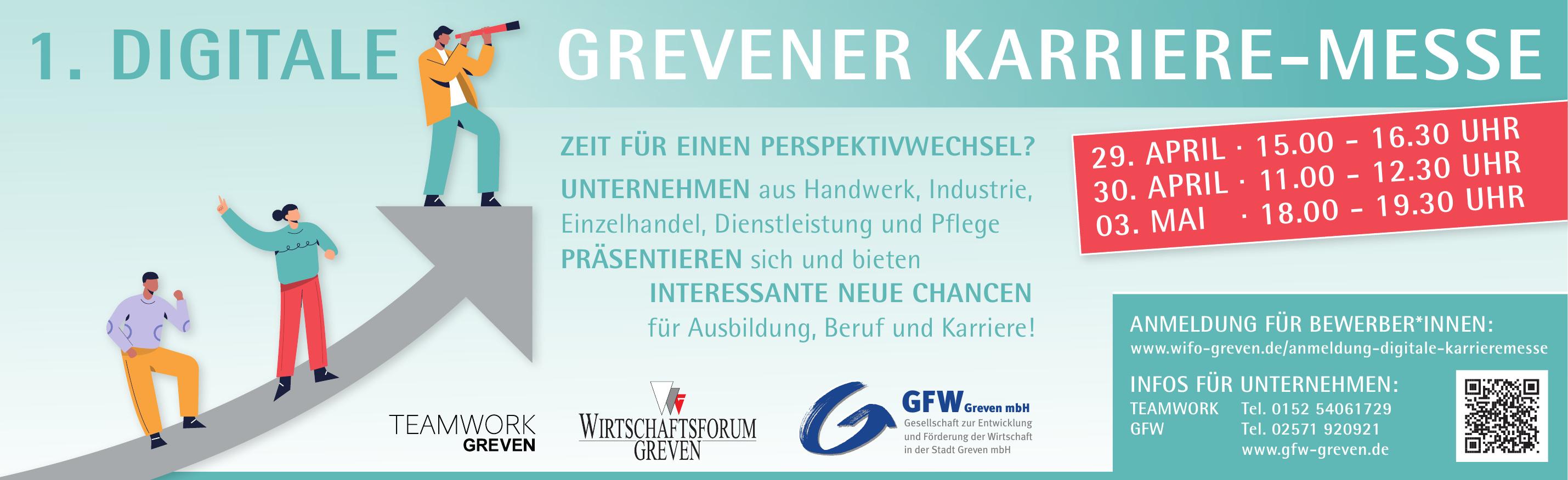 1. Digitale Grevener Karriere-Messe