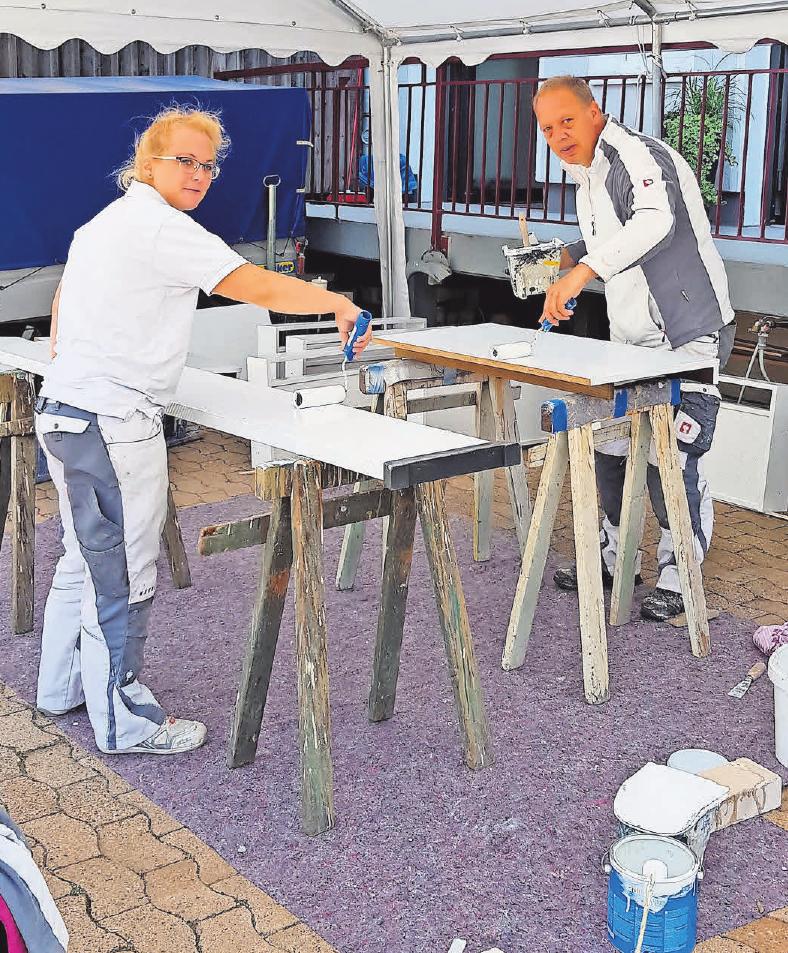 Die Mitarbeiter des Malerfachbetriebes Reinsch haben hervorragende Arbeit geleistet. Foto: privat