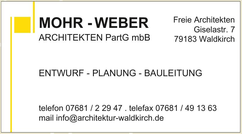 Mohr - Weber Architekten PartG mbB
