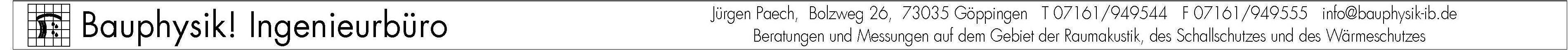 Bauphysik Ingenieurbüro Jürgen Paech