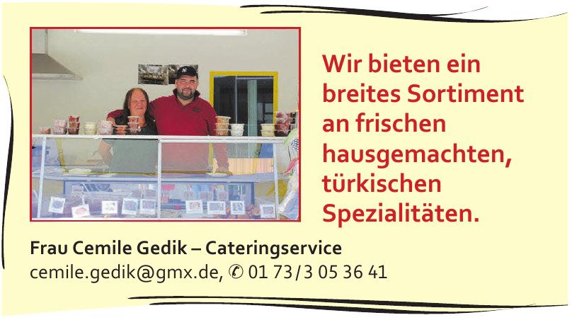 Frau Cemile Gedik – Cateringservice