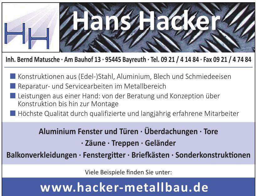 Hans Hacker e.K. Stahl- und Metallbau