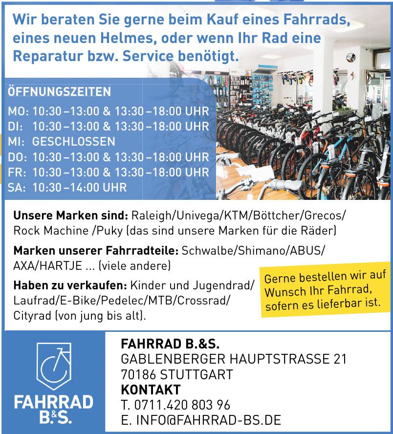 Fahrrad B. & S.