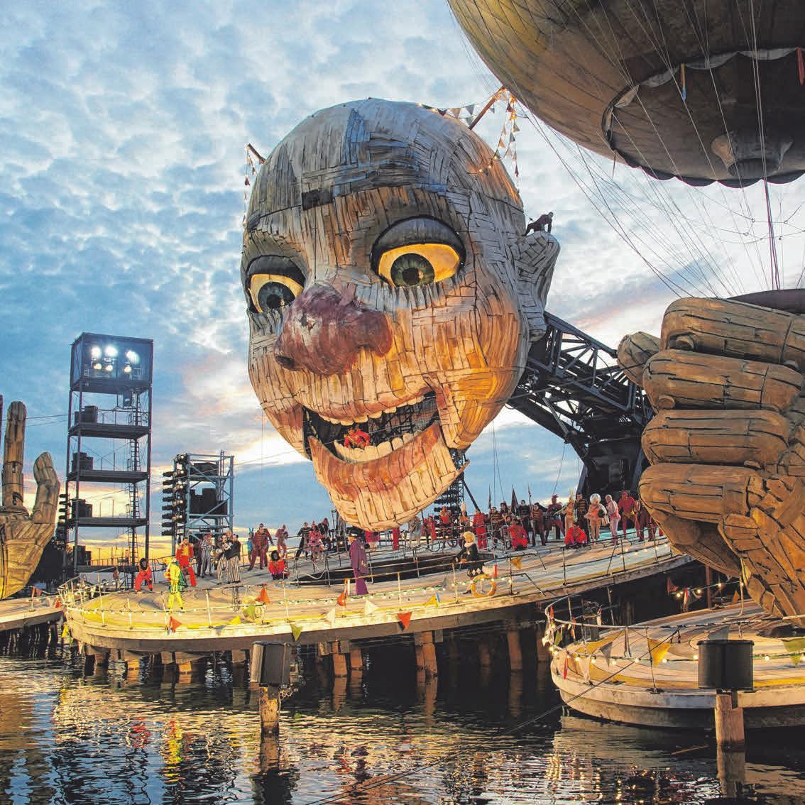 Das Bühnenbild Rigoletto der Bregenzer Festspiele