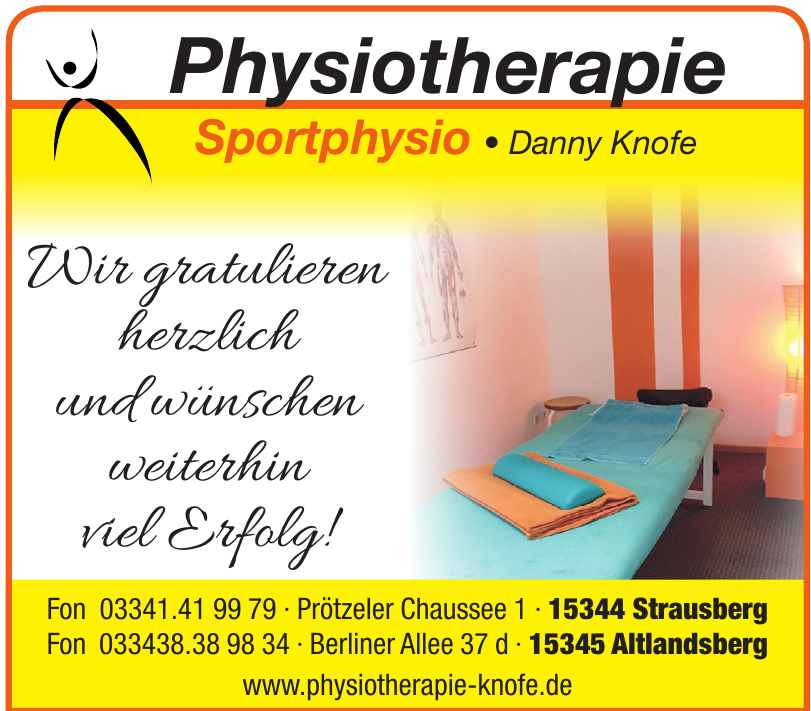Physiotherapie Sportphysio Danny Knofe