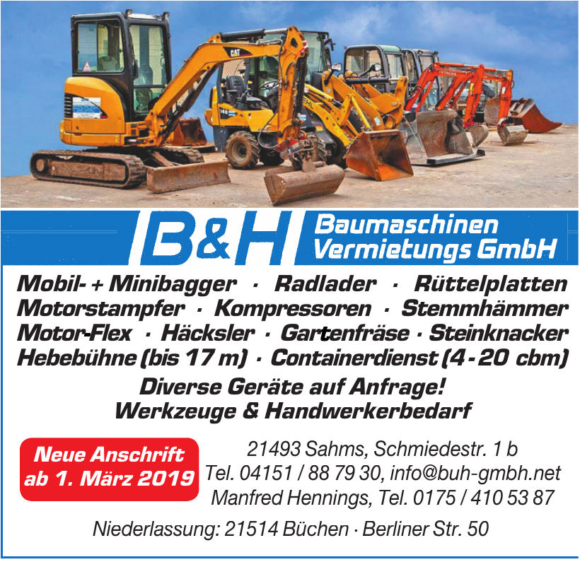 B & H Baumaschinen Vermietungs GmbH