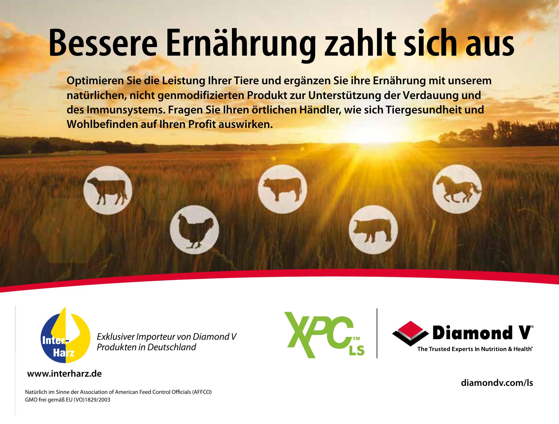 Inter-Harz GmbH - Exklusiver Importeur von Diamond V Produkten in Deutschland