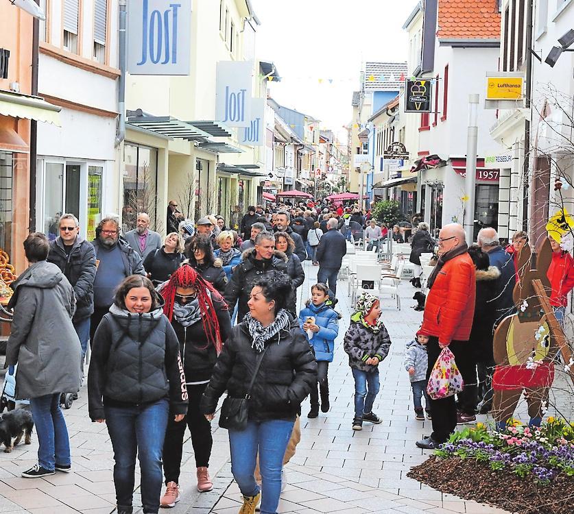 So sah es beim letzten verkaufsoffenen Sonntag in Grünstadt im März 2020 aus. FOTO: BENNDORF