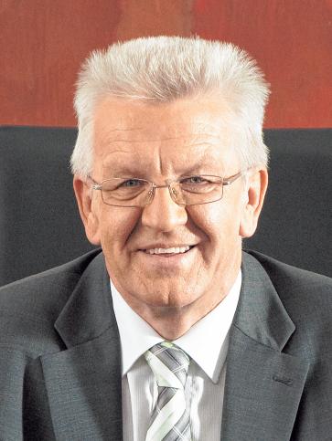 Ministerpräsident Winfried Kretschmann (Grüne Bündnis 90).