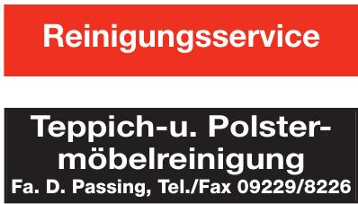 Fa. D. Passing - Teppich- u. Polstermöbelreinigung