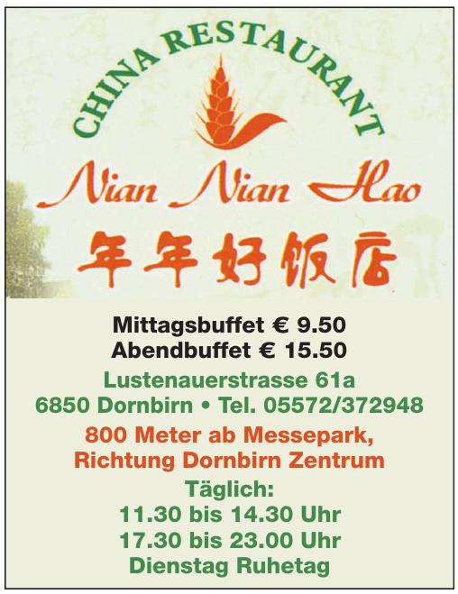 China Restaurant Nian Nian Hao