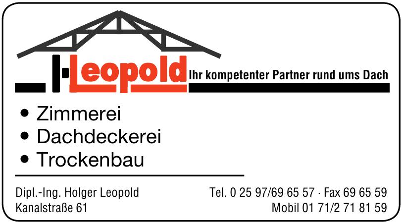 Dipl.-Ing. Holger Leopold
