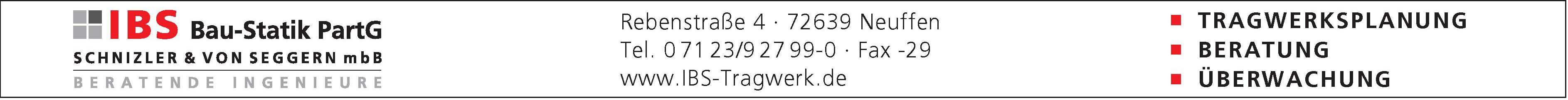 IBS Bau-Statik PartG ,SCHNIZLER & VON SEGGERN mbB