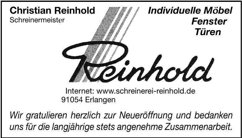 Christian Reinhold - Schreinermeister