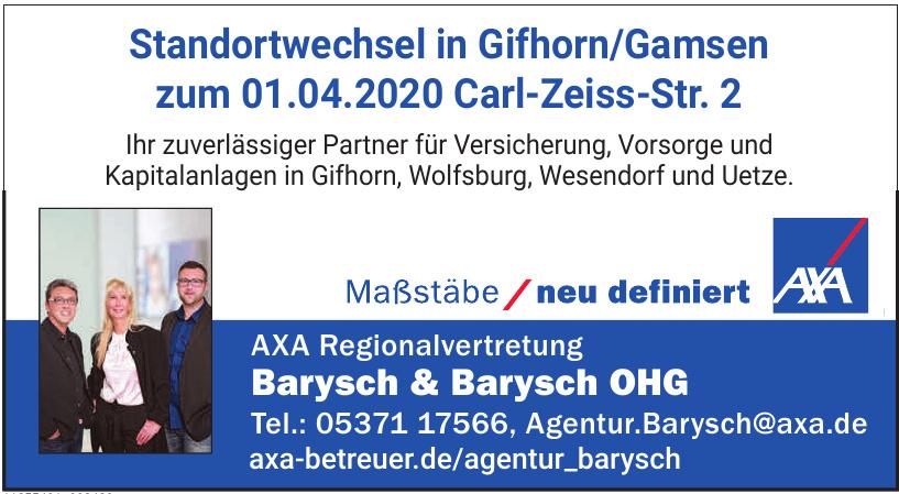 Axa Regionalvertretung Barysch & Barysch OHG