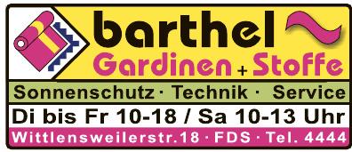 Barthel Gardinen + Stoffe