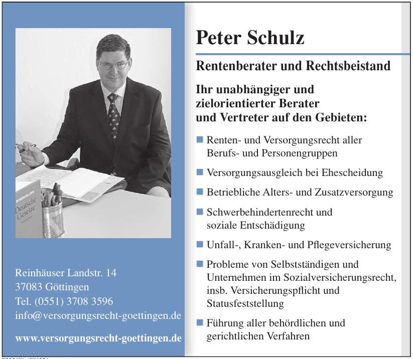 Peter Schulz Rentenberater und Rechtsbeistand
