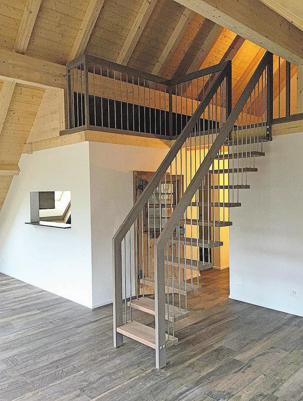 Verspielter Innenausbau, der viel Raum für individuelles Einrichten lässt.