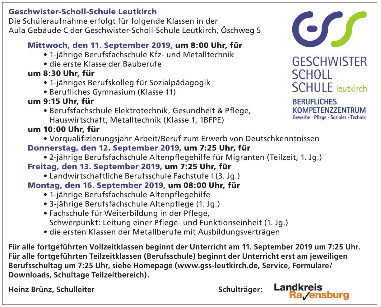 Geschwister-Scholl-Schule Leutkirch