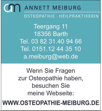 Anett Meiburg Osteopathie