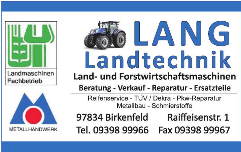 Lang Landtechnik