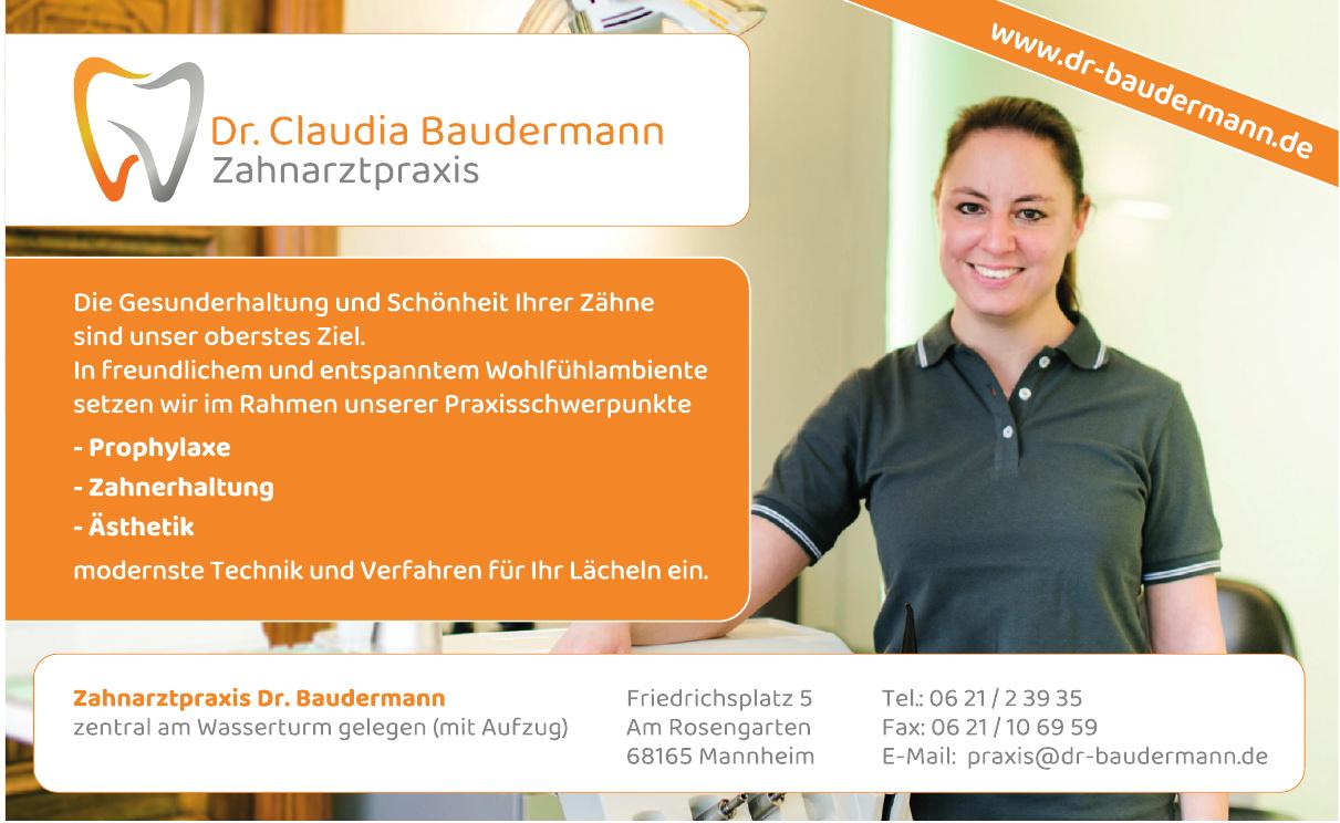 Dr. Claudia Baudermann Zahnarztpraxis