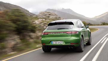 Verbrauchsangaben Porsche Macan Tubo: l/100 km: innerorts 12,2, außerorts 8,4, kombiniert 9,8. CO2-Emissionen kombiniert 224 g/km; Effizienzklasse E.