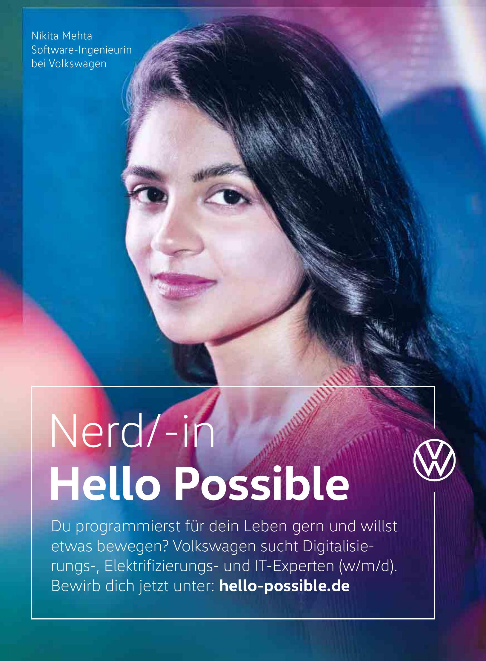 Volkswagen: Nerd/-in Hello Possible