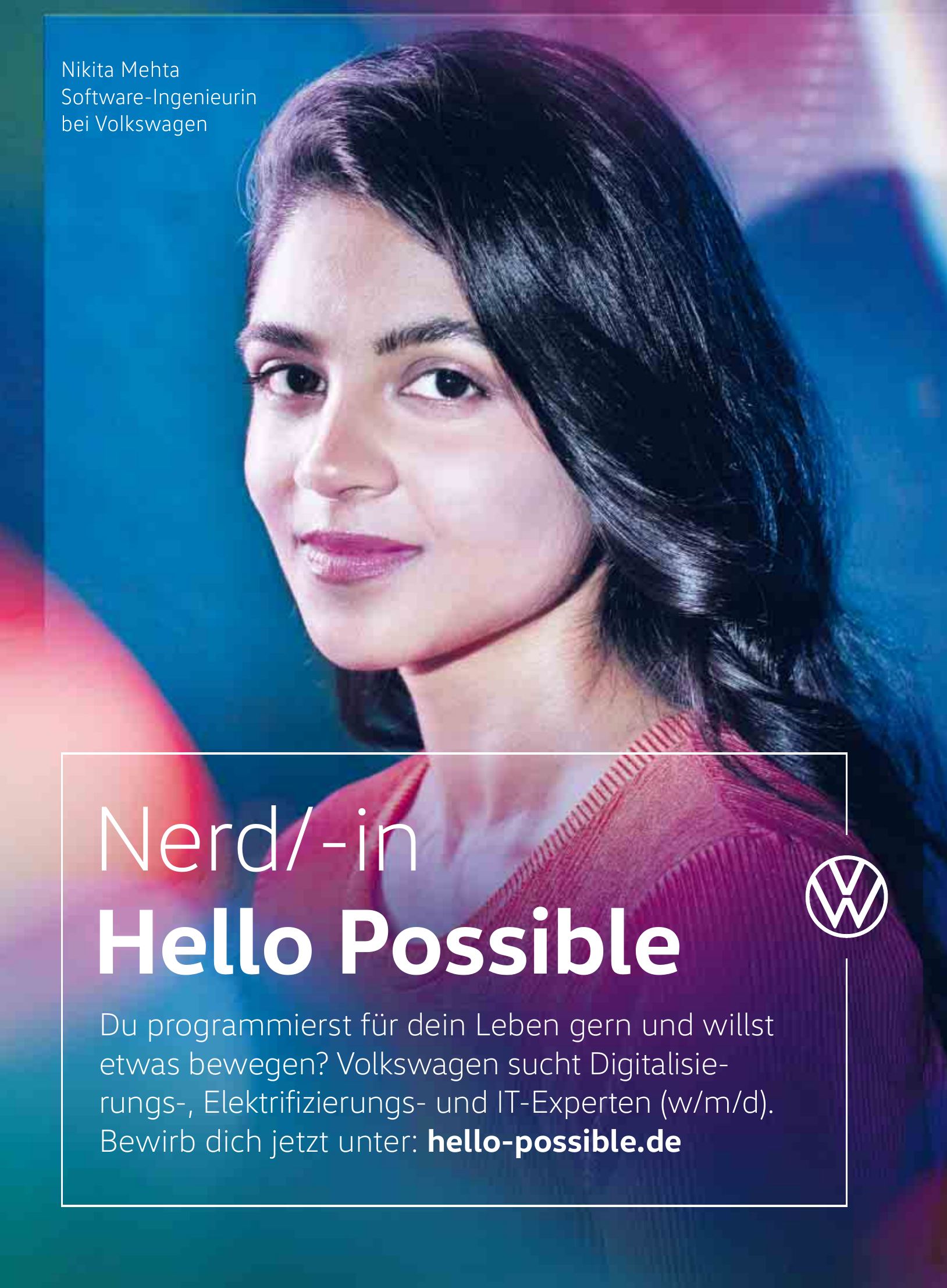Volkswagen: Nerd/-in Hello Possible