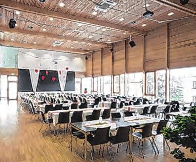 Der große Saal bietet zahlreiche Möglichkeiten. Foto: Gemeinde