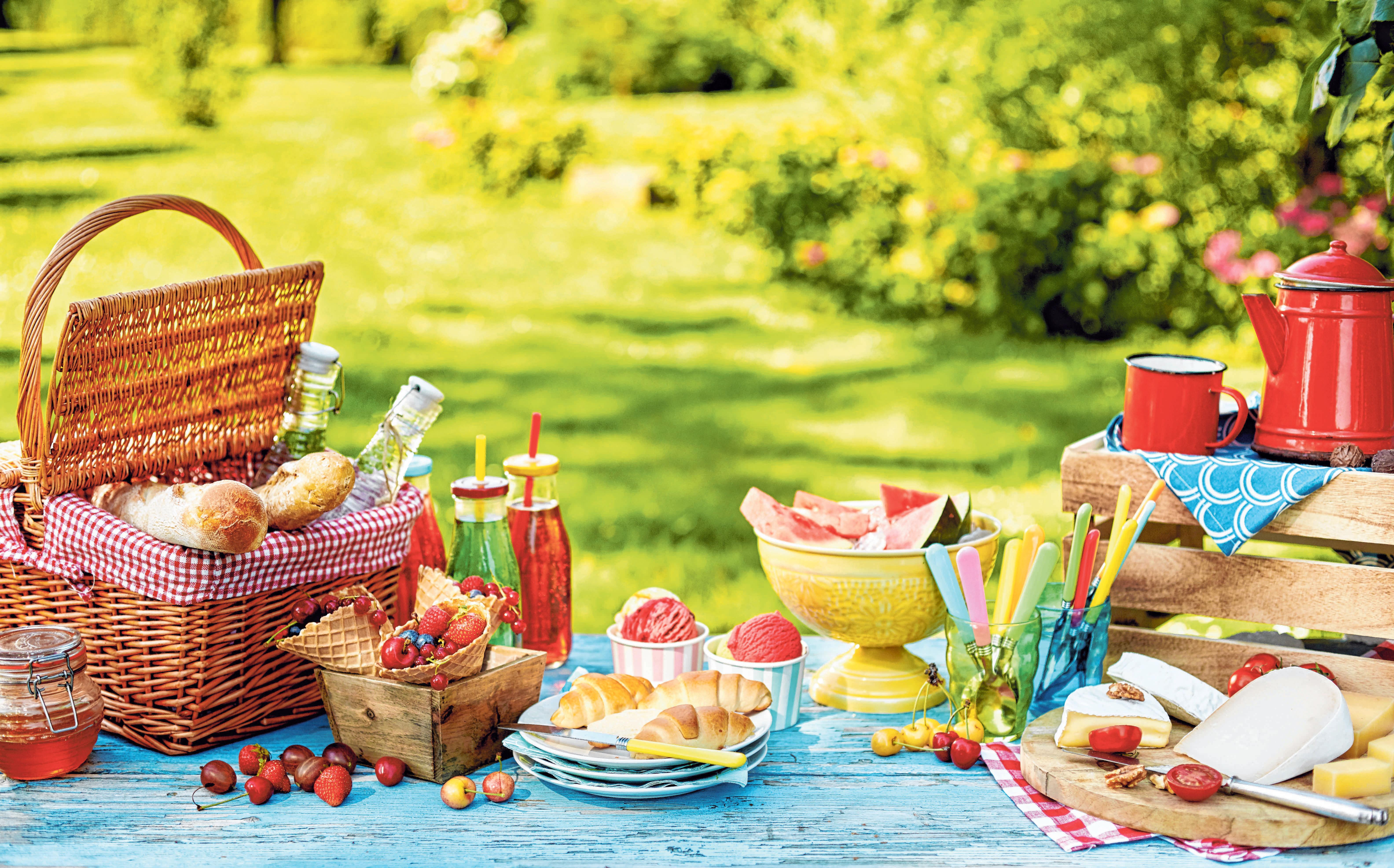 Für's Familien-Picknick lassen sich leckere Rezepte ausprobieren. FOTOS: COL/OH