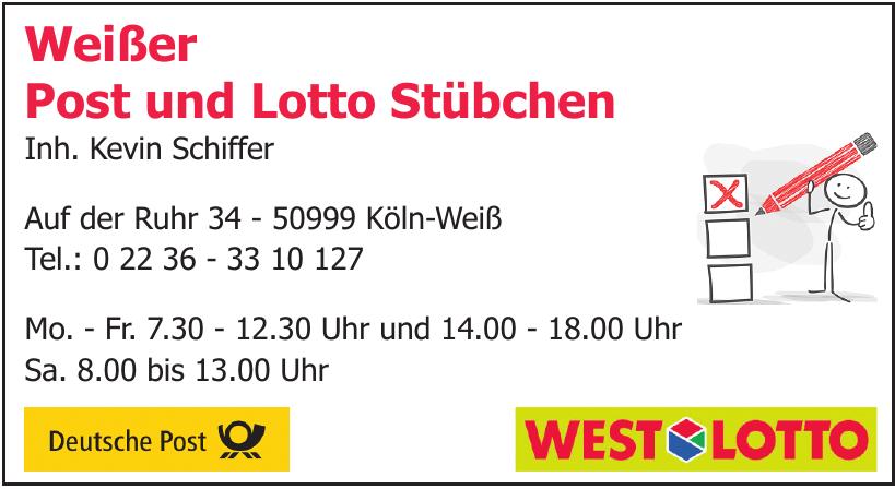 Weißer Post und Lotto Stübchen