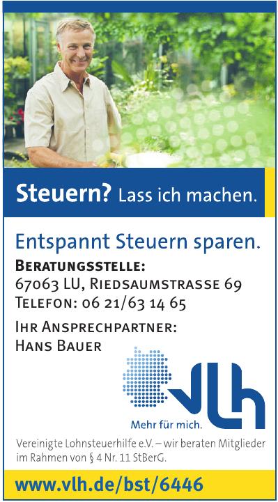 Vereinigte Lohnsteuerhilfe e.V. - Hans Bauer