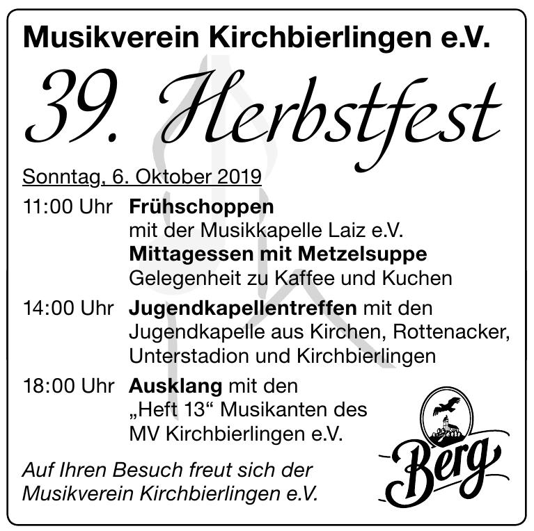 Musikverein Kirchbierlingen e.V.