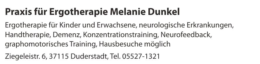 Praxis für Ergotherapie Melanie Dunkel