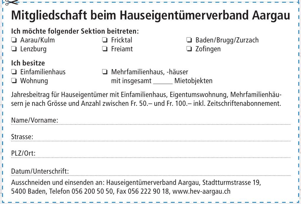 Hauseigentümerverband Aargau