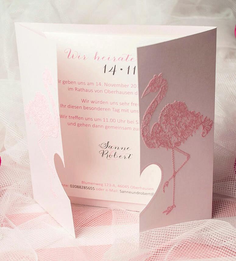 Richtungsweisend für die Gäste: Die Einladung. weddix.de