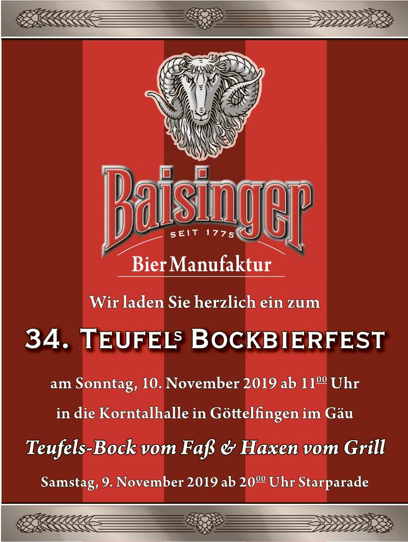 34. Teufel´s Bockbierfest