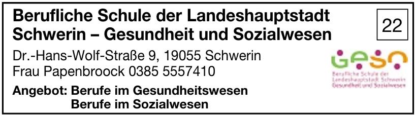 Berufliche Schule der Landeshauptstadt Schwerin – Gesundheit und Sozialwesen