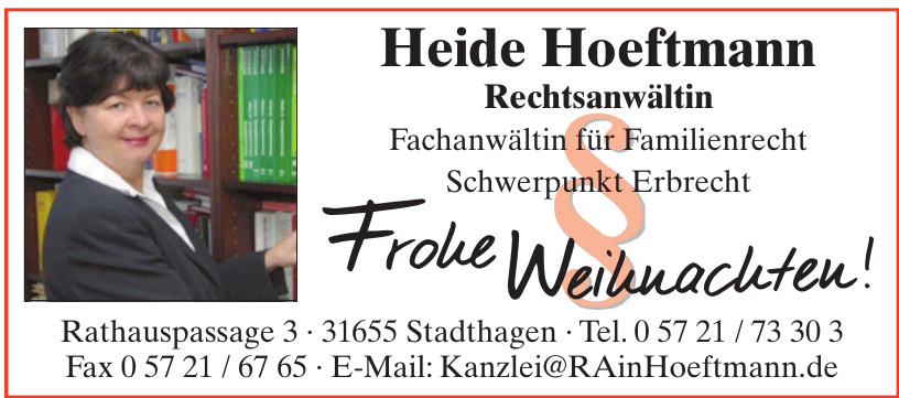 Heide Hoeftmann Rechtsanwältin