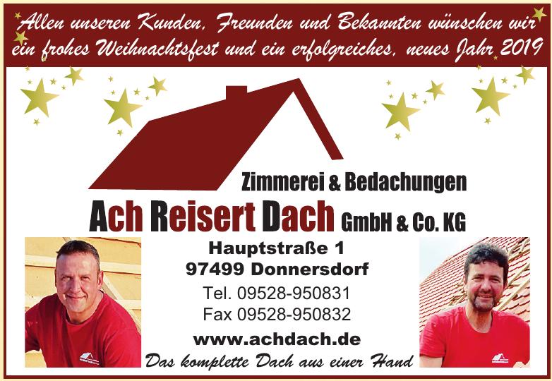Zimmerei & Bedachungen Ach Reisert Dach GmbH & Co. KG