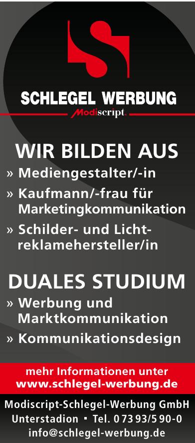 Modiscript-Schlegel-Werbung GmbH