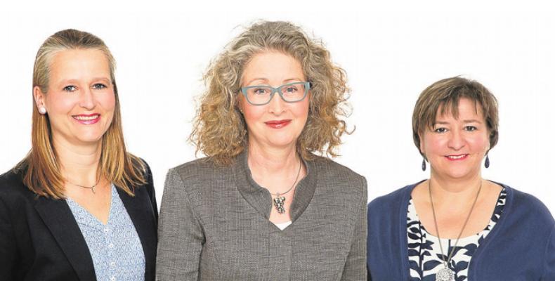 Das Team vom Rosenhof Ahrensburg: Ulrike Högerle, Beate Wierhake und Yvonne Müller (von links) Foto:C. Hansen/Rosenhof