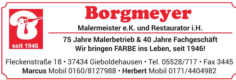 Herbert Borgmeyer Malermeister e. K. und Restaurator i. H.