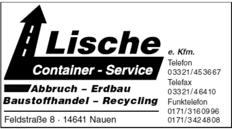 Lische e. kfm. Container-Service