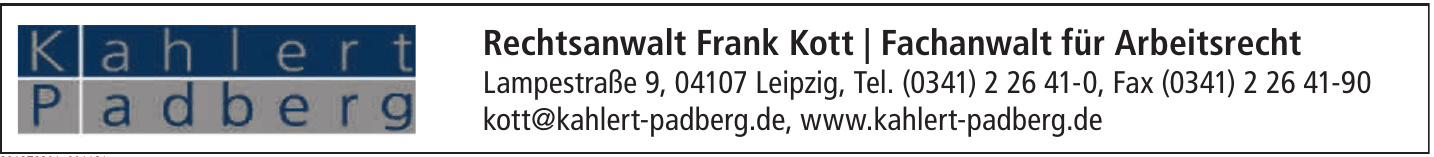 Rechtsanwalt Frank Kott | Fachanwalt für Arbeitsrecht