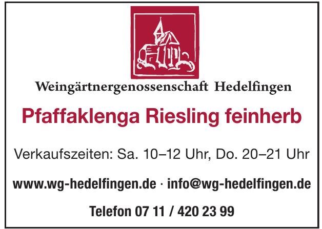 Weingärtengenossenschaft Hedelfingen Muskat-Trollinger