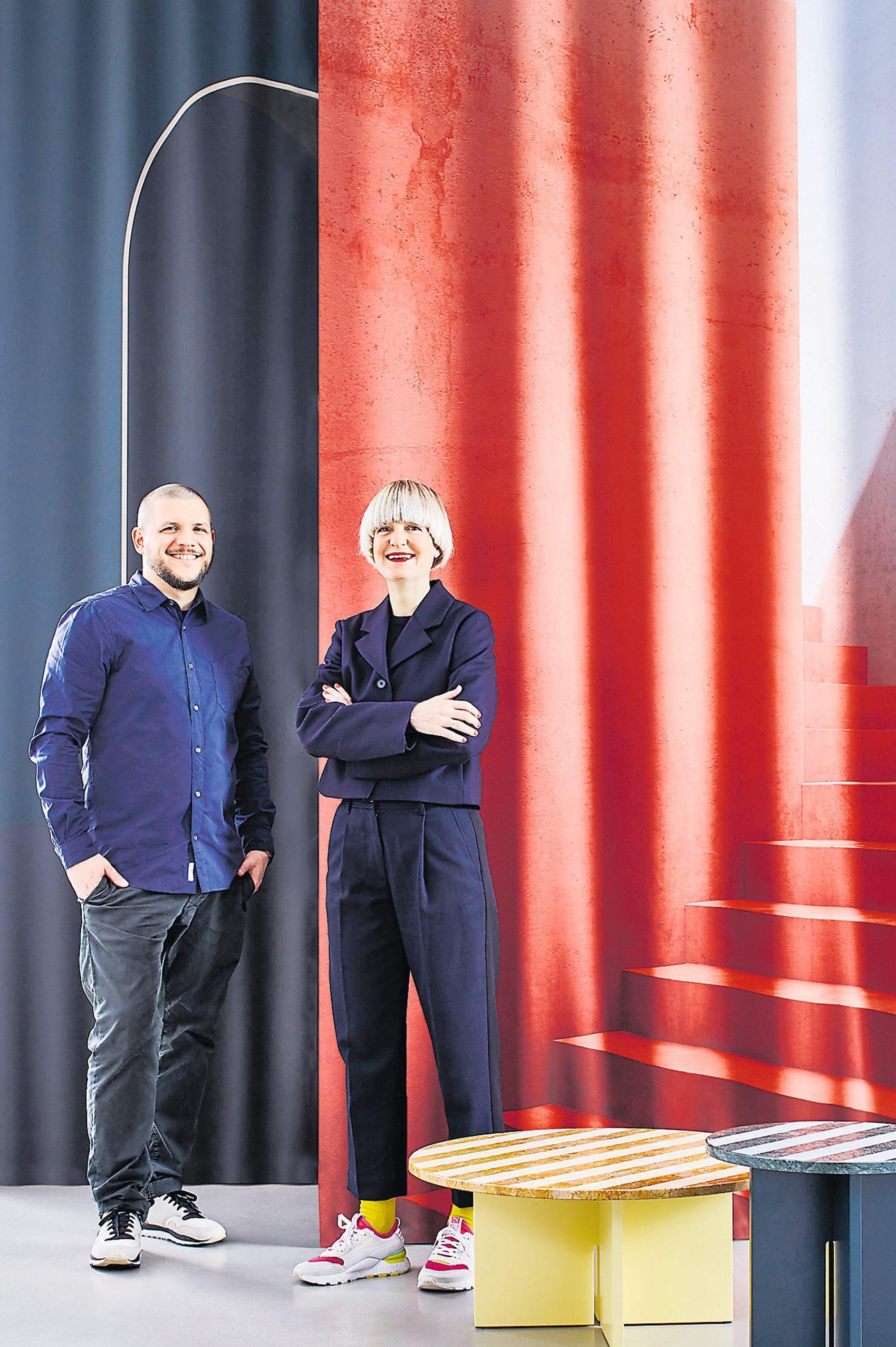 Das Designer-Duo hat alles im Blick: Marcel Besau und Eva Marguerre. Bild: Silke Zander