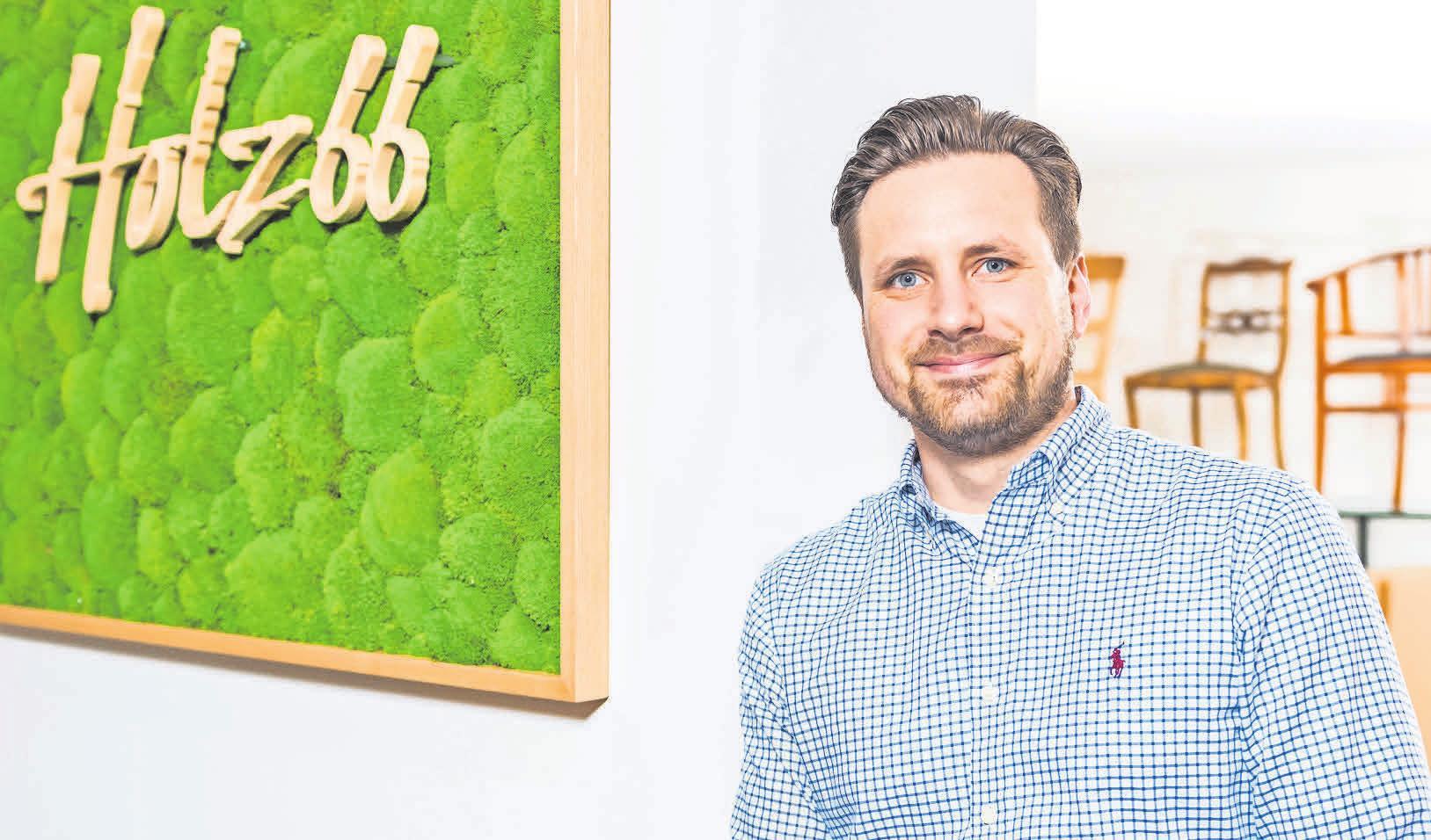 Wojciech Pawelski ist Inhaber von Holz66, das erst vor Kurzem aus dem Stadtteil Kirchrode an die Marienstraße gezogen ist.